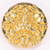 gold plastic button in 18mm